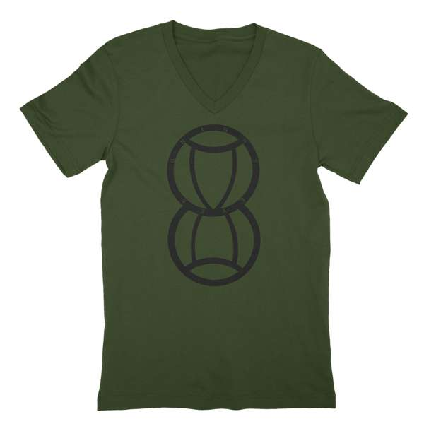 Bright Eyes | Hourglass V-Neck T-Shirt - Olive