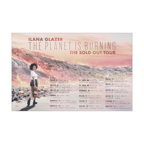 Ilana Glazer | The Planet Is Burning Tour Poster