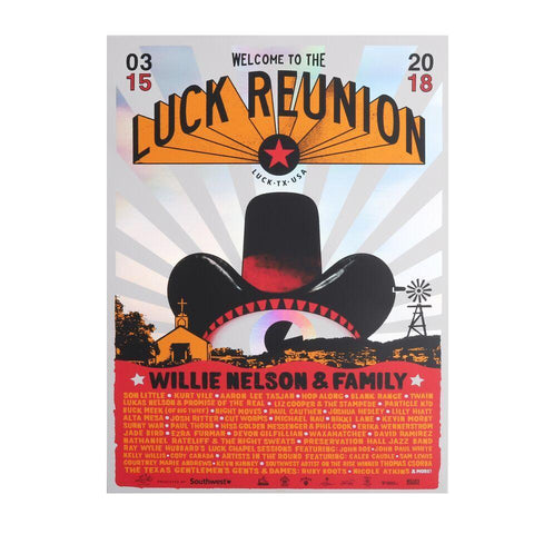 2018 Metallic Luck Reunion Screen Printed poster