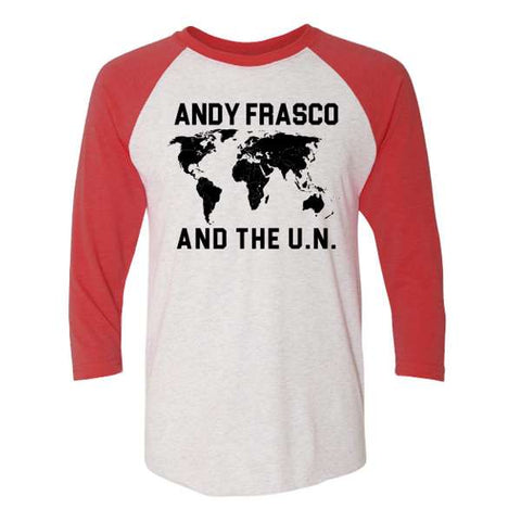 Andy Frasco and the UN Raglan Map Tshirt