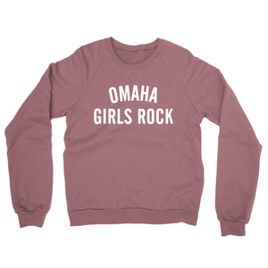 Omaha Girls Rock | Limited Edition Crewneck Sweatshirt - Mauve