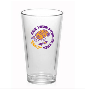 Andy Frasco | Mind Be Free Pint Glass *PREORDER*