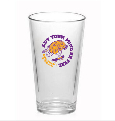 Andy Frasco | Mind Be Free Pint Glass