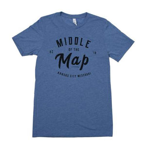 Middle of the Map Fest | 2018 Logo T-Shirt - Blue