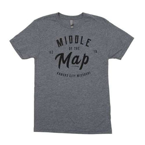 Middle of the Map Fest | 2018 Logo T-Shirt - Grey