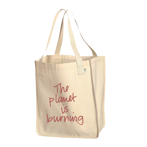 Ilana Glazer | Fuck! The Planet is Burning Organic Cotton Tote Bag - Natural Canvas