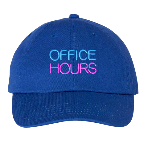 Office Hours | Neon Sign Dad Hat