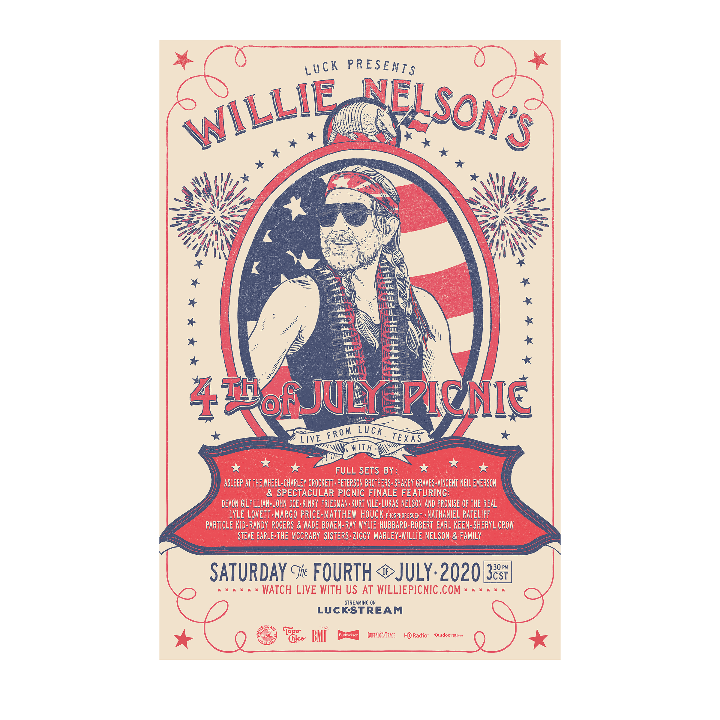 Luck Reunion | Willie's Picnic Poster