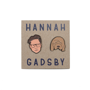 Hannah Gadsby and Douglas the Dog Enamel Pin Set