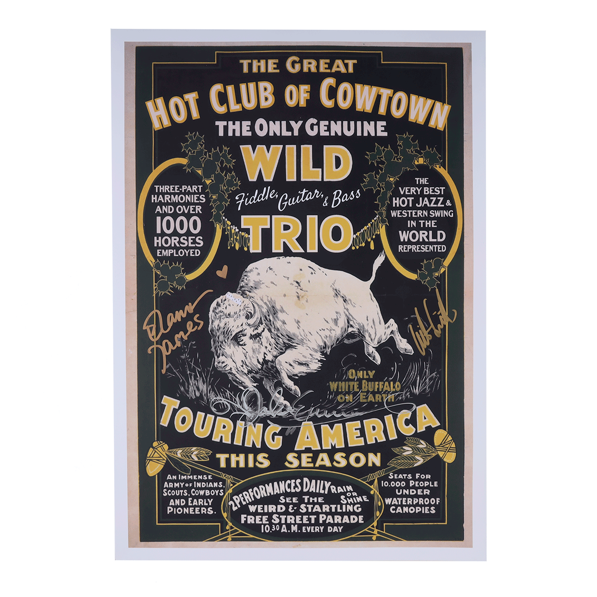 Hot Club of Cowtown | White Buffalo Tour Poster *Autographed*