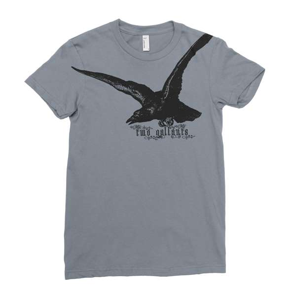 Two Gallants | Women's Raven T-Shirt - Asphalt