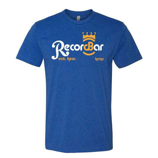 Blue RecordBar t-shirt with special edition crown logo
