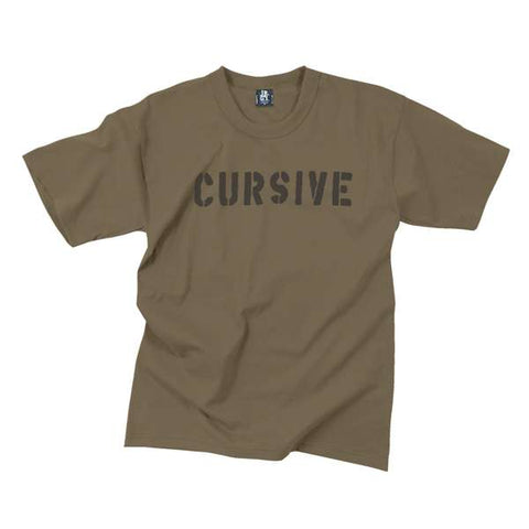15P | Cursive - Youth Stencil T-Shirt