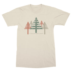 Tallest Man on Earth Cream Canvas Tee with tree graphics
