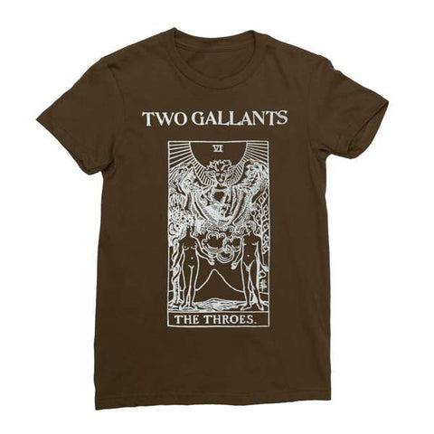 Two Gallants | Women's Tarot T-Shirt - Brown