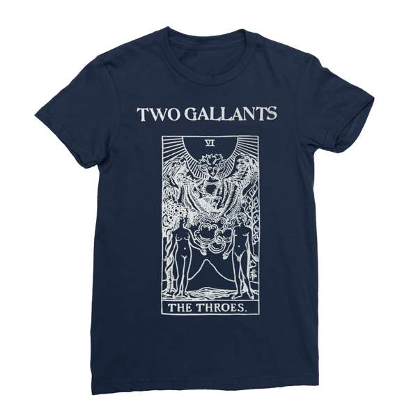 Two Gallants | Women's Tarot T-Shirt - Navy
