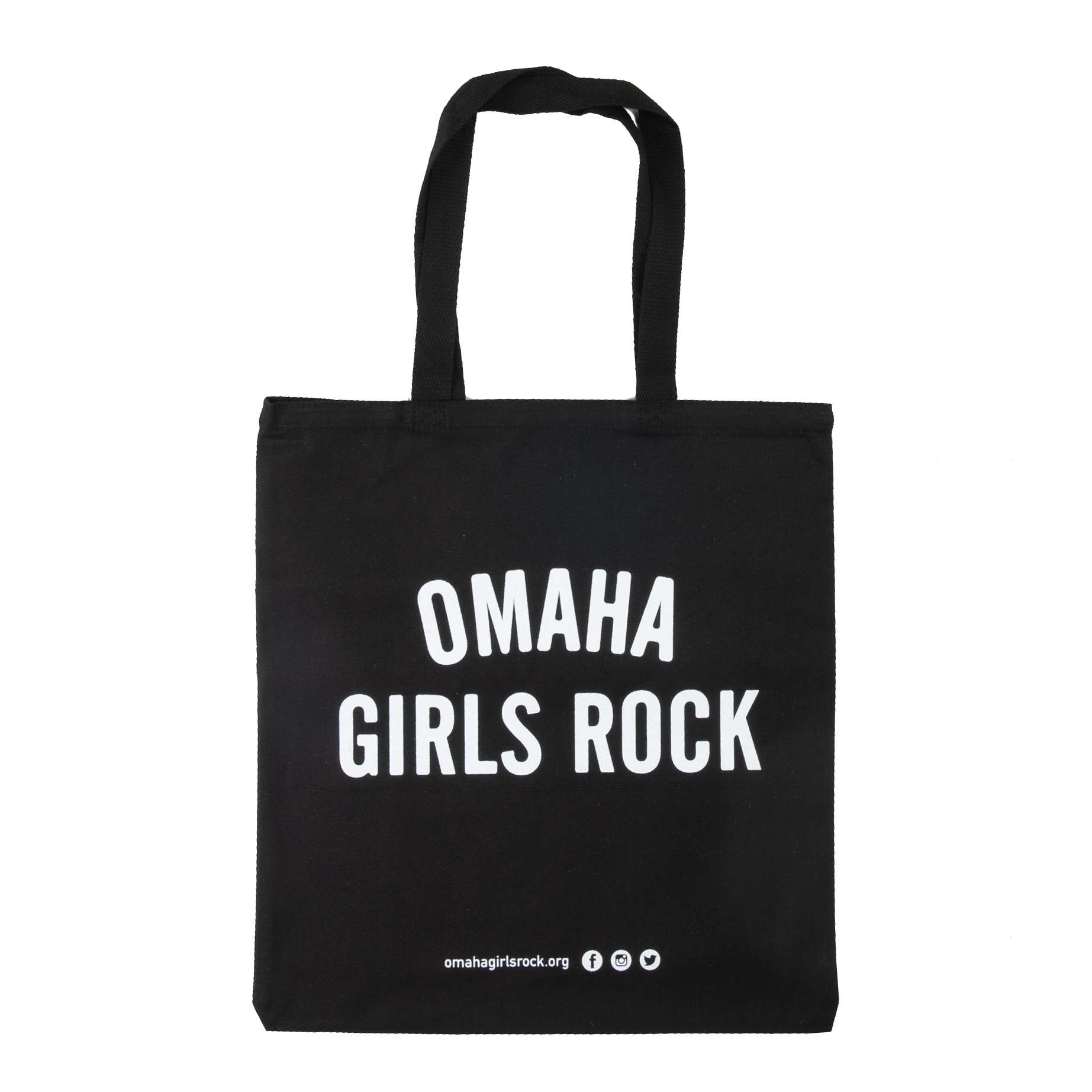 Omaha Girls Rock Tote Bag- Black