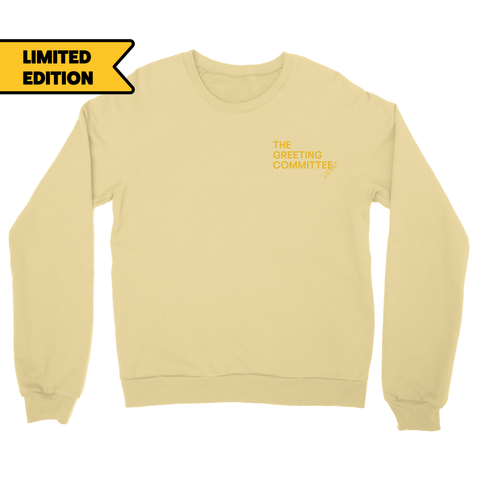 The Greeting Committee | Logo Crewneck - Yellow *PREORDER*