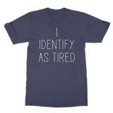 Hannah Gadsby's Navy I Identify as Tired T-shirt