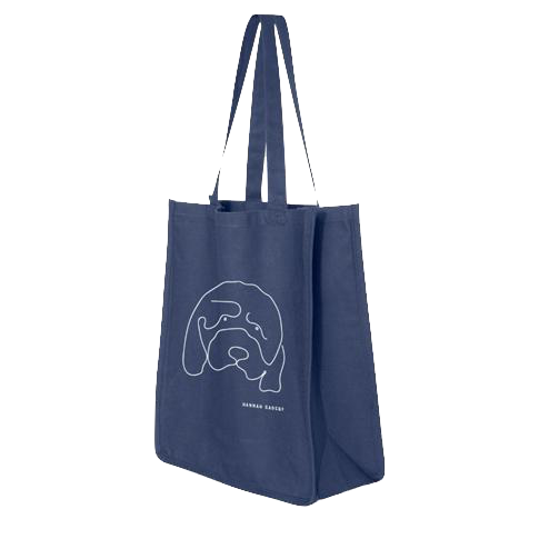 Hannah Gadsby's Douglas the dog Navy Tote bag