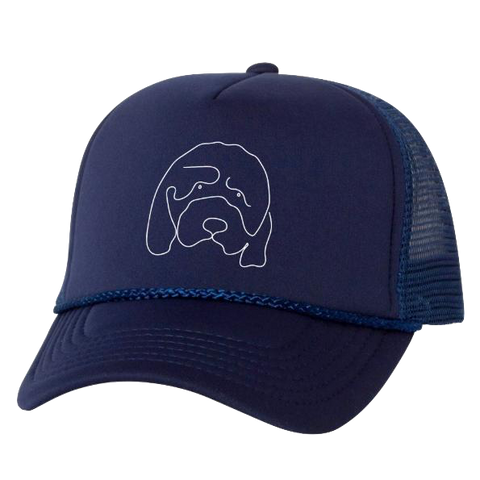 Hannah Gadsby Douglas the Dog Navy Trucker Hat