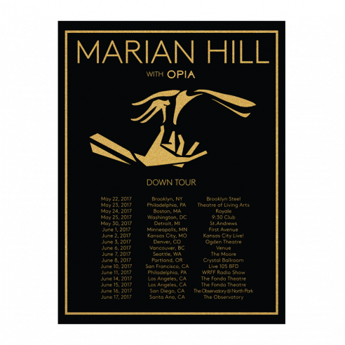 Marian Hill Down Tour Poster