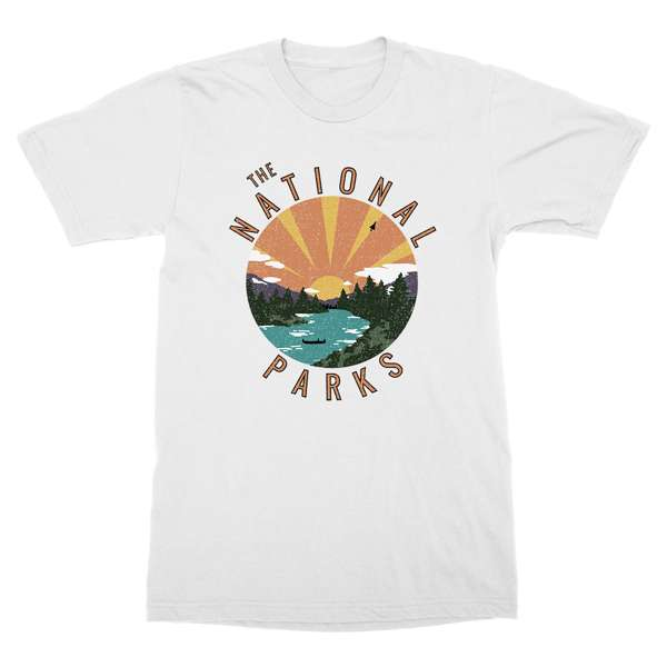 The National Parks | Vintage Sunset White T-Shirt