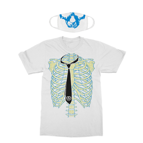 Killswitch Engage | White Halloween Bones T-Shirt + Mask Bundle *PREORDER*