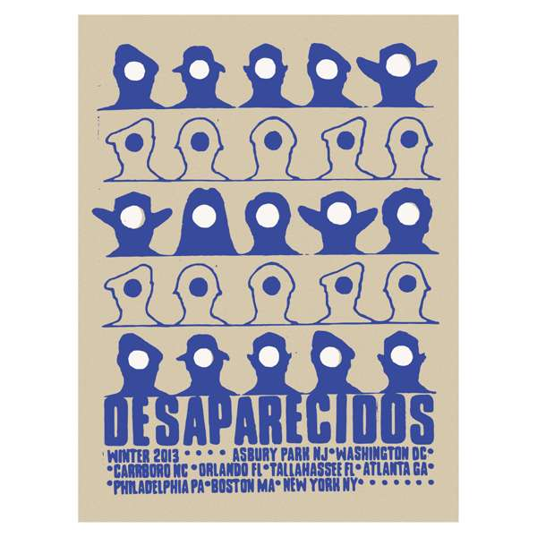 Desaparecidos | 18X24 Winter 2013 Tour Poster