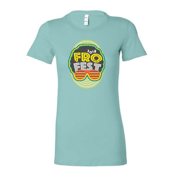 "Light Blue Women's ""Fro Fest"" t-shirt"