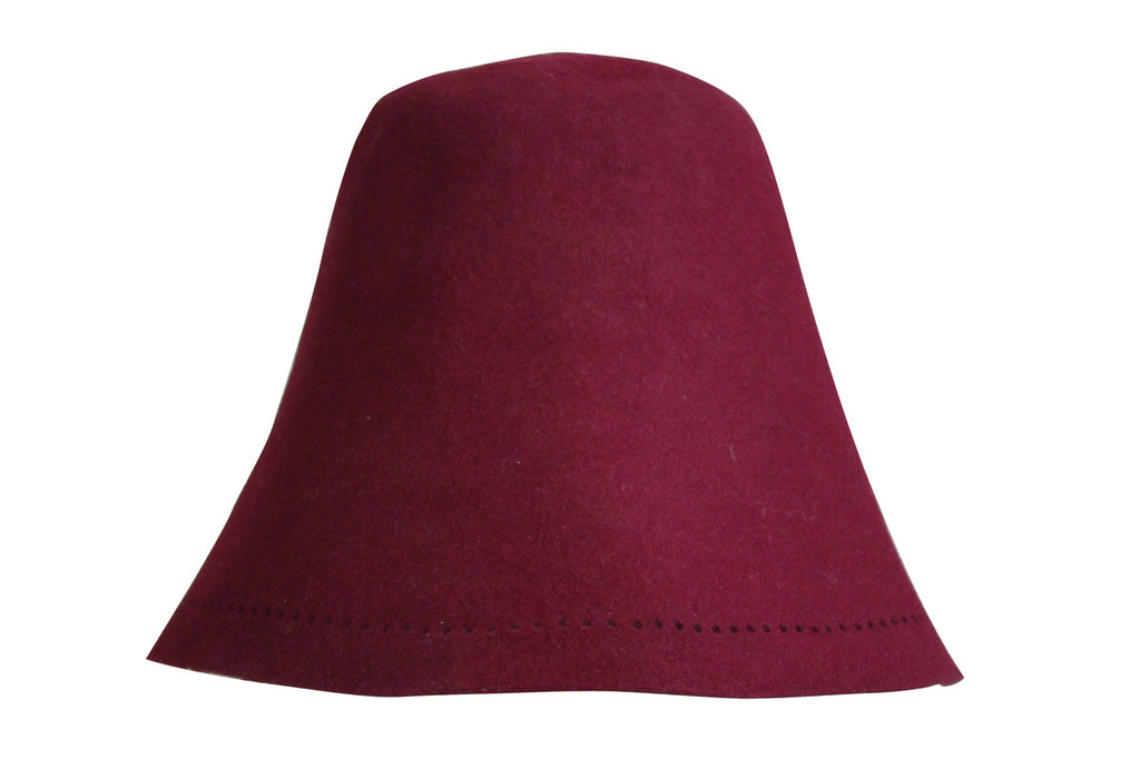 Sauna Hat of Rabbit Fur - Burgundy