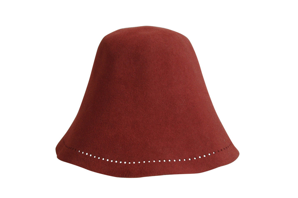 Sauna Hat of Rabbit Fur - Red