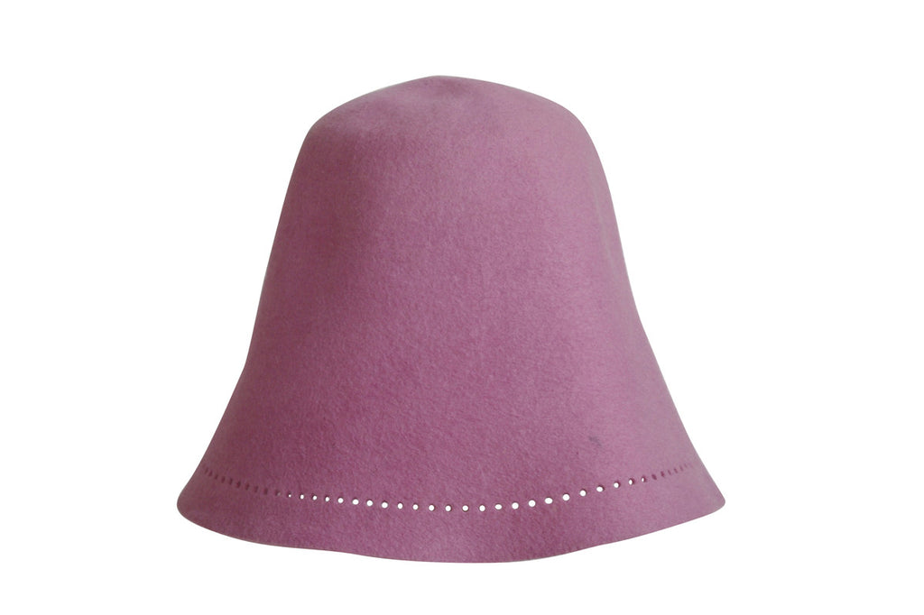 Sauna Hat of Rabbit Fur - Rose