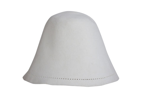 Sauna Hat of Rabbit Fur - White