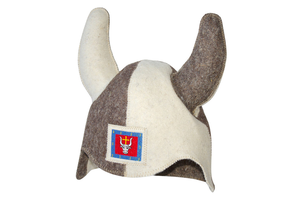 Viking Sauna Hat with Bull