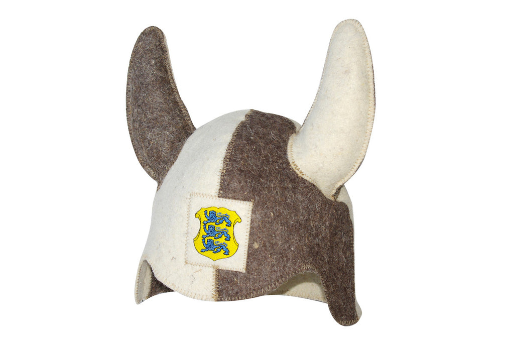 Viking Sauna Hat with Lions