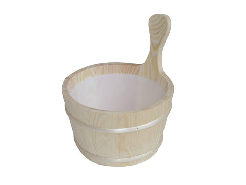 Sauna Bucket with plastic liner (1 gallon)