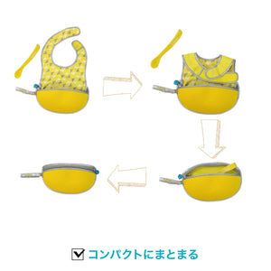 *b.box* travel bib+flexible spoon トラベルビブ - pine splice - b.box Japan
