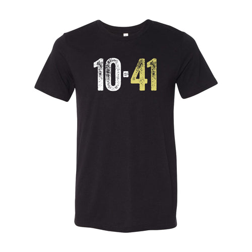 10-41 Center Chest Logo T-shirt - Black Triblend