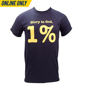 One Percent Basic Tee - Navy