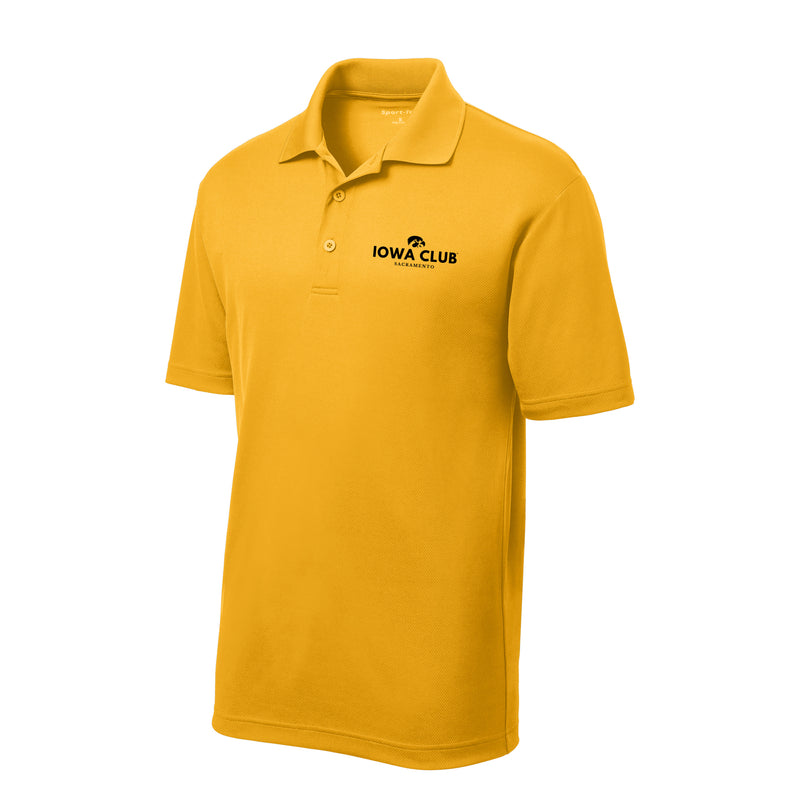 Sacramento Iowa Club Embroidered Polo - Gold