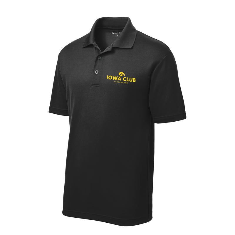 Sacramento Iowa Club Embroidered Polo - Black