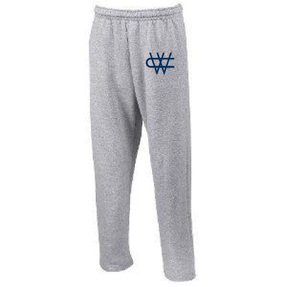 CW Navy Logo Pants Grey - Gray