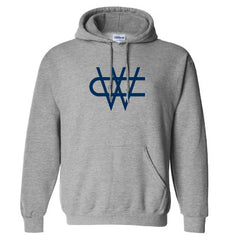CW Navy Logo Hood Grey - Gray
