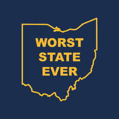 Worst State Ever OH LS Navy - Navy