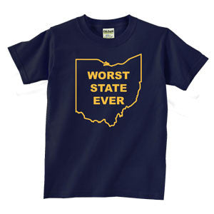 Worst State Ever OH YTH Navy - Navy
