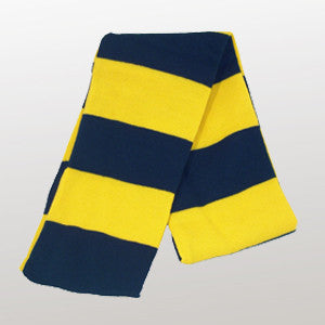 Navy & Gold Striped Scarf - Navy / Gold