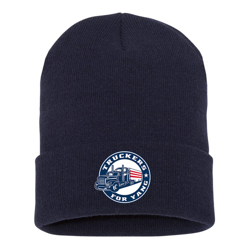 Truckers For Yang Knit Hat - Navy