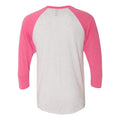 Pinnies Raglan Logo - Heather White/Vintage Pink