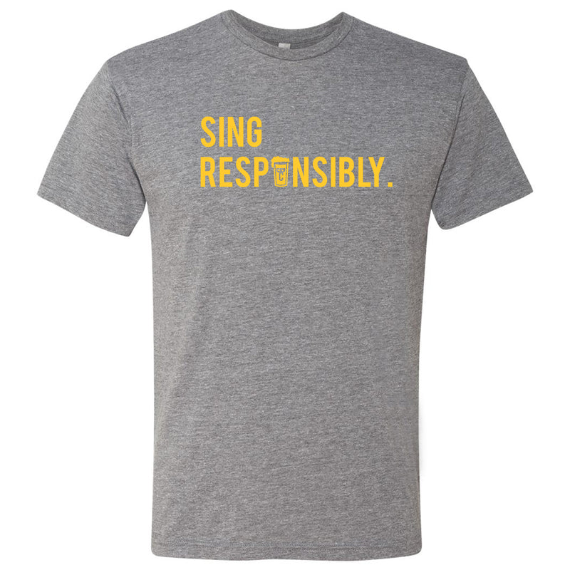 Beer Choir Sing Responsibly Unisex Tee - Premium Heather